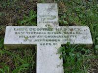 HADDOCK,Geoffrey    Lieut 65404