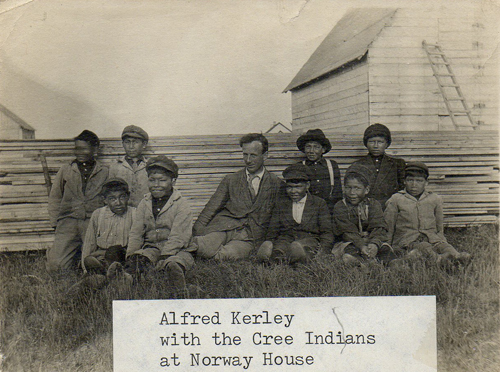 Alfred Kerley with Cree Indians