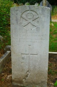 James's headstone at Southampton Old Cemetery