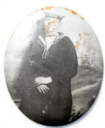 A photograph taken when William was serving on HMS Albemarle.