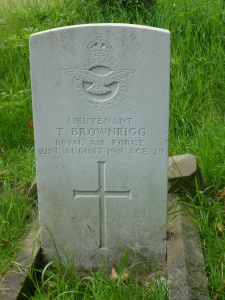 Thomas Brownrigg's gravestone at Southampton Old Cemetery