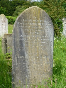 Heath family grave and memorial stone
