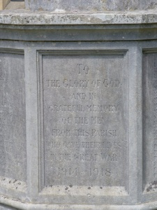 Inscription on the Highfield Memorial