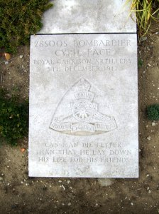 Cyril Page headstone