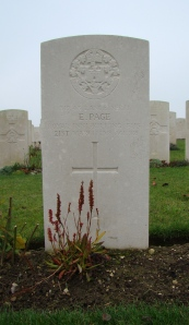 Ernest's gravestone.