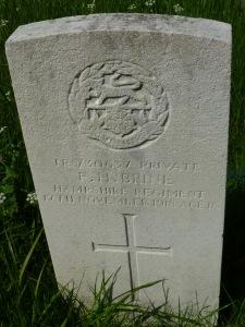 UTW BRINE, Frederick Henry Private TR 8 30637