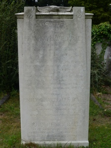 The headstone of Frank Aylward Ball