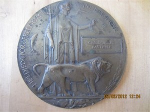 Cecil Bastable's medal