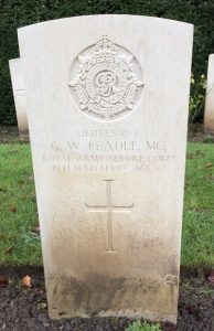 George Beadle headstone