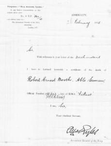 Robert Booth death certificate